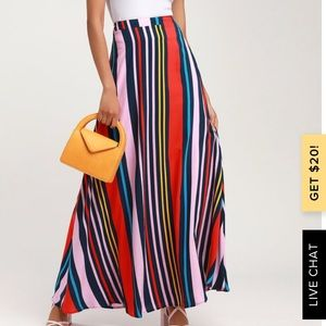 Lulu's multicolored maxi skirt (size m).